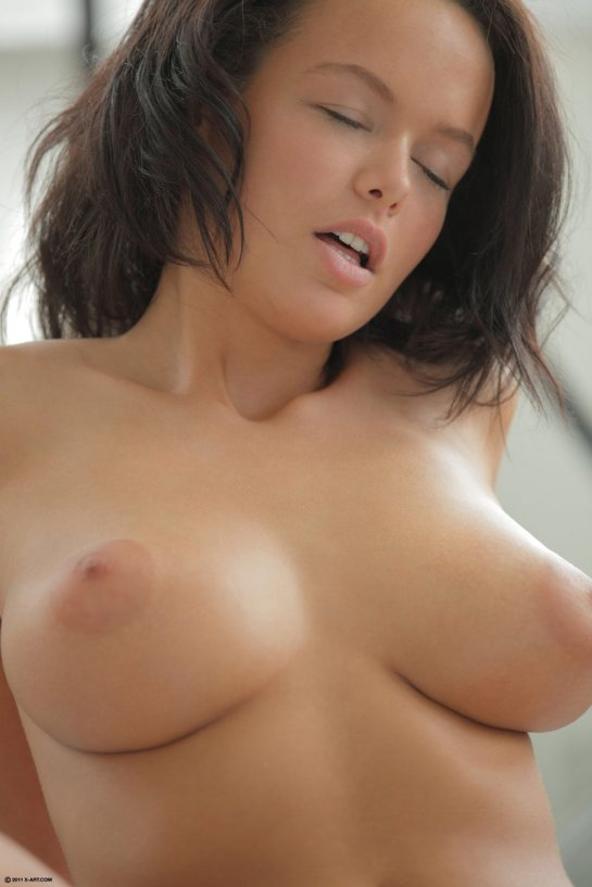 playboy girls mouth open