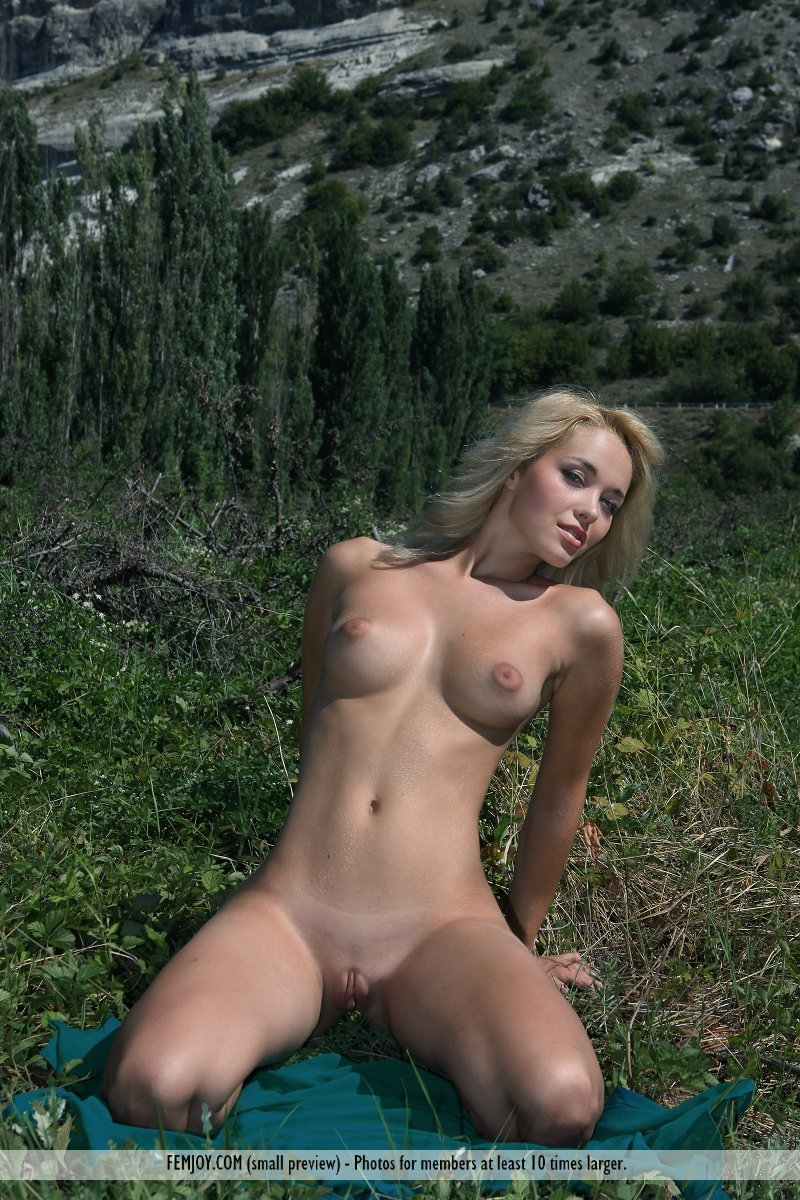 Naked girl in the country