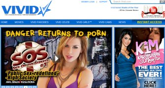 In this screenshot from Vivid, two of Vivid's releases are Kim Kardashian's Sex Tape and Sex on The Streets #1