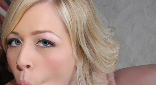 Blonde Zoe Monroe is puckering as she sucks a dick.