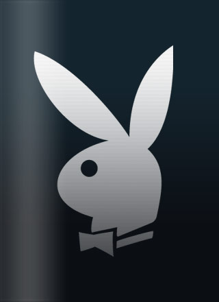 Playboy Logo White bunny on black.
