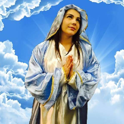 Valentina Nappi's profile picture of her as a Saint.