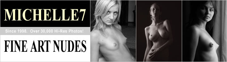 Michelle7 banner with three photos of young women with small breasts.